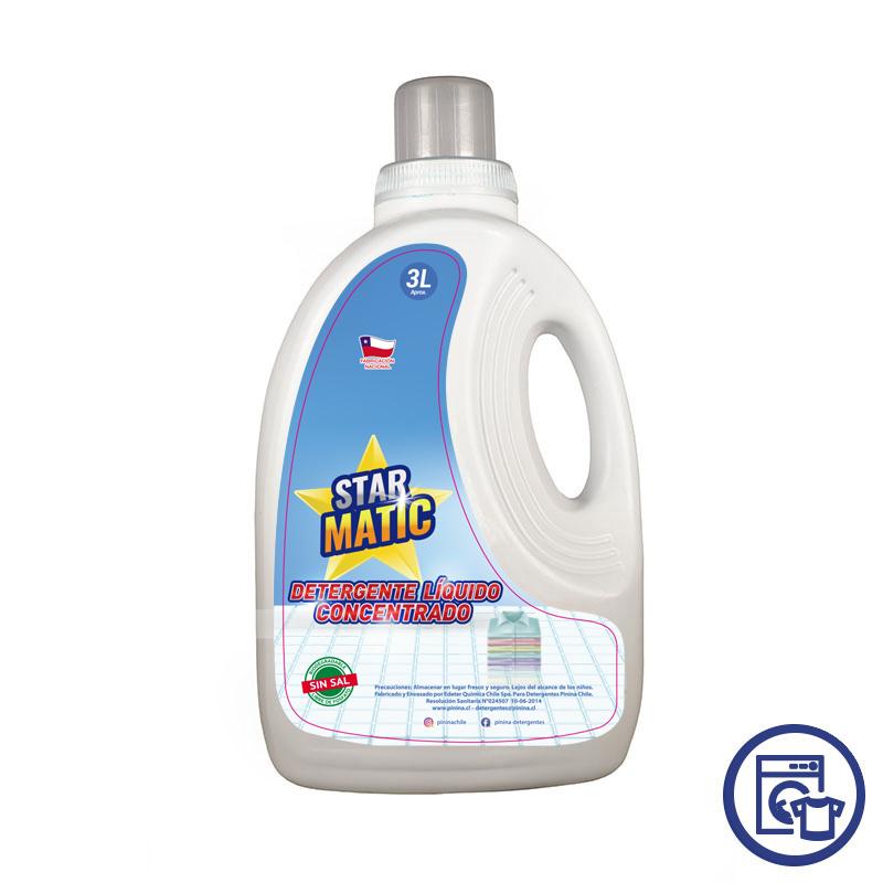 Detergente Star Matic Liquido Concentrado 3 litros