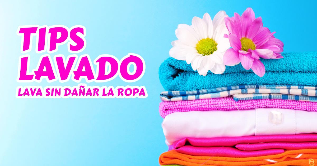 Tips para lavar la ropa sin dañarla